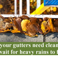 Gutter Cleaning $25 off through December 15, 2017